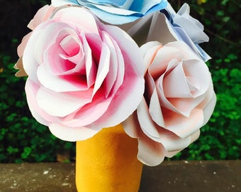 Watercolour Paper flower bouquet