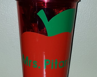 Personalized Tumbler with Straw - Great for a Teacher Gift!