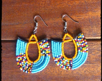 Beaded African Earrings