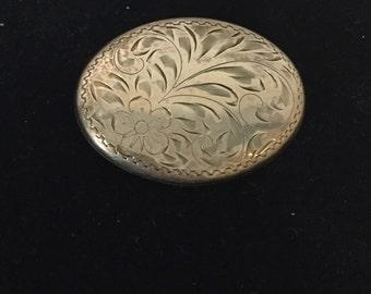 Ornate Vintage Sterling Brooch