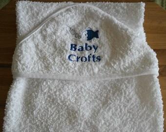 Personalised Fish Hooded Baby Towel