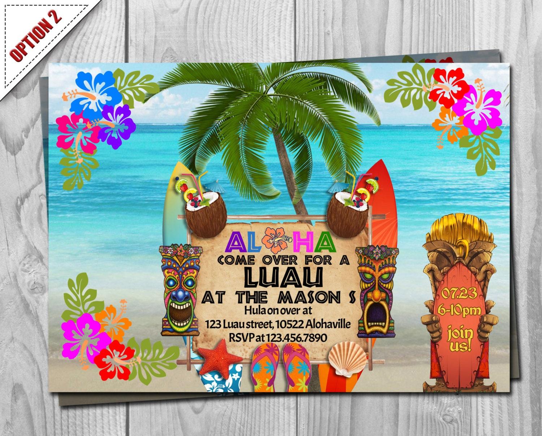 Hawaiian Birthday Card gangcraftnet
