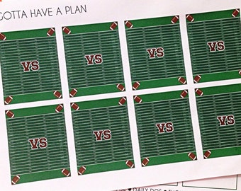 Planner Stickers Football Field Full Box for Erin Condren, Happy Planner, Filofax, Scrapbooking