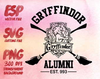 Gryffindor Alumni Clipart , SVG Cutting , ESP Vectors files , T shirt , iron on , sticker ,Personal Use