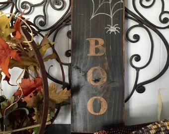 Boo Spiderweb Sign