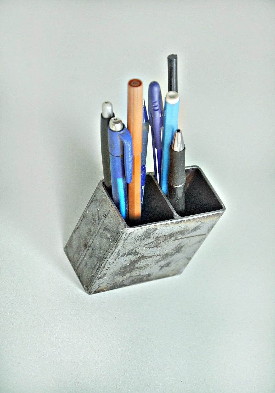 Pen Pencil Holder Metal Holder Industrial Style Pencil