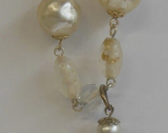 Vintage Pearl Tassle Necklace from the 1950s