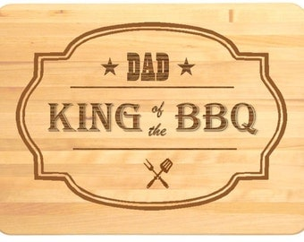King of the BBQ Personalised Engraved Wooden Chopping Board