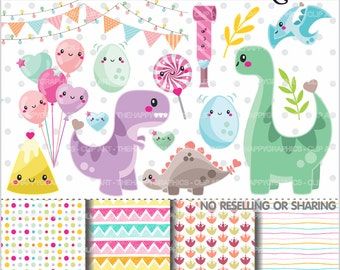 Dinosaur Clipart, 80%OFF, Dinosaur Graphics, COMMERCIAL USE, Planner Accessories, Dino Clipart, Dino Party, Dino Birthday, T Rex