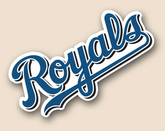 "KANSAS CITY ROYALS Set of 2 Vinyl Cornhole Decal Logo Wall Sticker Car Truck 12"" Size"