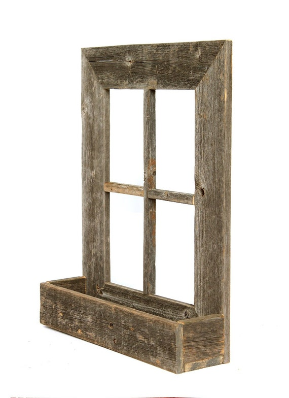 Barnwoodusa Rustic Wooden Window Planter Box Wood Planter
