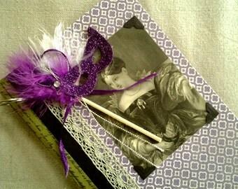 Vintage Book Journal Purple Masquerade