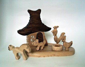 Handmade wooden toys Set of wooden puzzles Wood toy for boys and girls Children puzzle Educational toy Gift