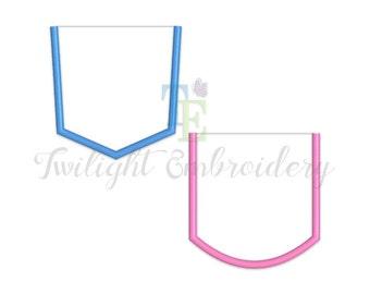 Set of 2 Pocket Applique Machine Embroidery Designs 0004
