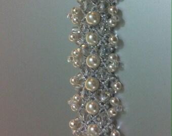 Bracelet, accessories, bride, macramé.