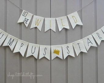 Where the Wild Things Are First Birthday Banner, 1st Birthday Banner, Where the Wild Things Are Shower Decor, Let the Wild Rumpus Start