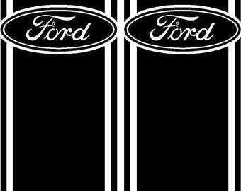 Truck Bed Racing Stripe Vinyl Decal Sticker Kit fits Ford F-150 Ranger 250 350 Free shipping