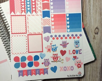 Cute Valentine owl page for your life planner! Repositionable