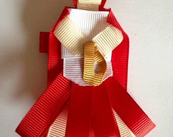 Handmade Little Red Riding Hood hair clip