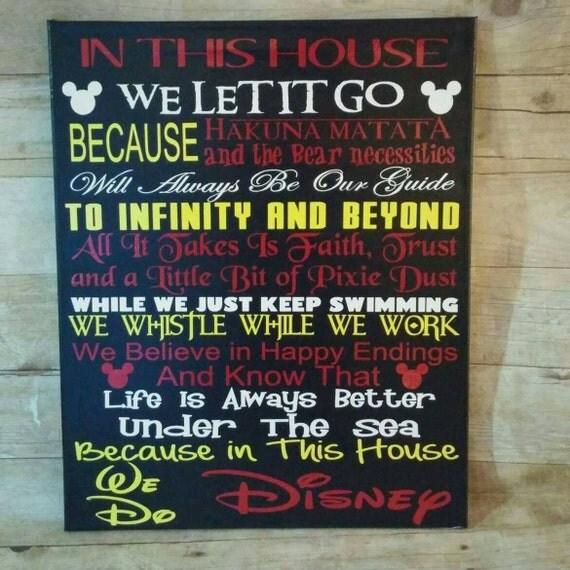 In This House We Do Disney Castle Disney Sign Disney Art