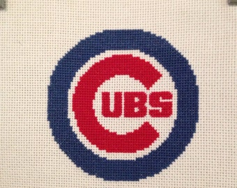 Chicago Cubs Finished and Framed Cross Stitch
