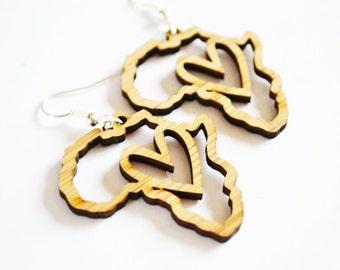 I Heart Africa - Bamboo Earrings