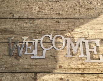 Welcome Sign Metal Art