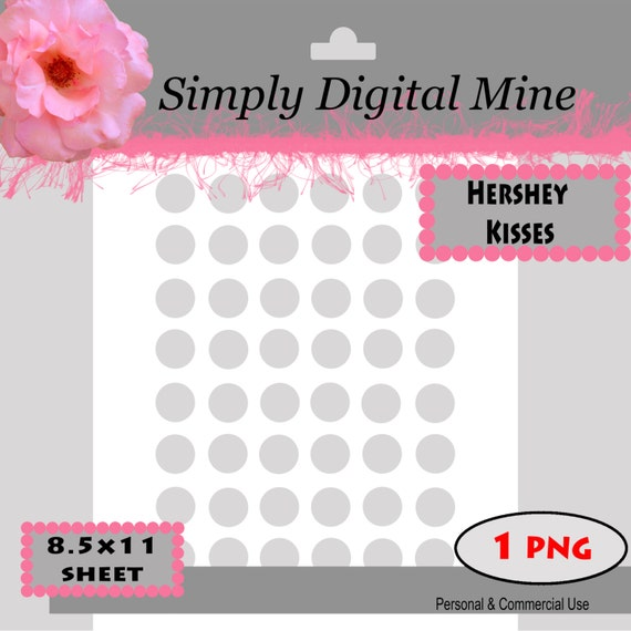 You design hershey kisses labels template size approx for Free hershey kisses labels template
