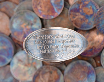 Copper Pressed Penny - What God Has Joined Together