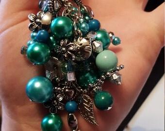 Turquoise Charm Keyring