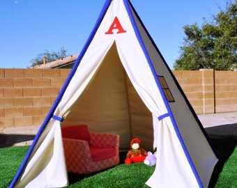 8' WildCat Canvas Kids Teepee, Kids Play Tent, Childrens Play House, Tipi,Kids Room Decor