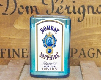 Upcycled Large Bombay Sapphire Gin Candle