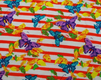 "Butterfly Pattern Printed Fabric 43"" Wide Pure Cotton Crafting Material Fabrics For Dress Making Sewing Indian Fabric By The 1 Yard ZBC5843"