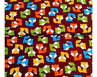 Brown Fox Fabric, Robert Kaufman, 100% Cotton, UK SALES ONLY