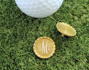 SET OF 4, Personalized Golf Ball Marker, Golf Ball Marker, Ball Marker, Golf Gift, Golf Gift for him, Gift for him, Fathers Day Gift
