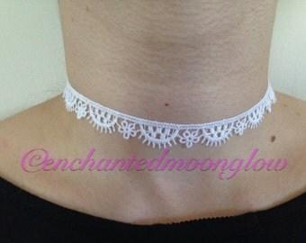 White Lace Choker