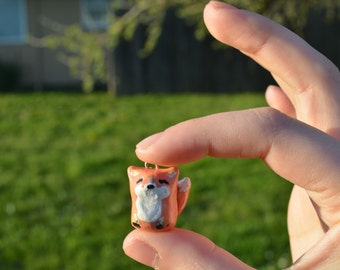 50% OFF SALE Clay Fox Necklace