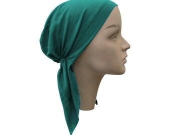 Turquiose Kids Pretied Headscarf Cute Childrens Turquiose Alopecia Scarf Chemo Cap Head Cover