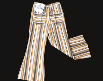 70's Striped Flare Trousers French Stock Sizes 3-4, 5-6Y and 6-8Y