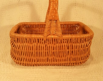 Wicker shopping basket 043