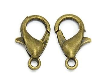 SALE 500 Pc Antique Bronze Tone Lobster Clasp 12 x 6 mm | Trigger Clasps | Lobster Claw Clasps | Bracelet / Necklace Clasps | 43-Brz