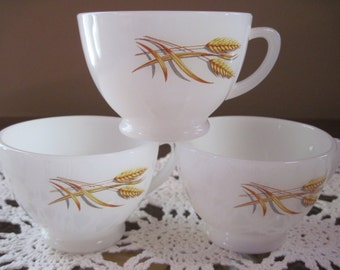 Fire King Wheat Tea Cups - Item #1323