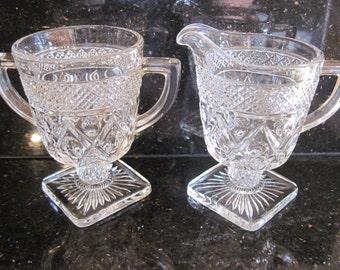 Imperial Glass-Cape Cod Sugar and Creamer - Item #1190