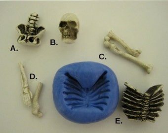 Skeleton Mold, Skeleton Bone Molds, Halloween Mold,  Silicone Molds, Flexible Molds, Craft Mold.