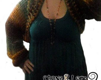 Crocheted Cropped Sweater-Shrug