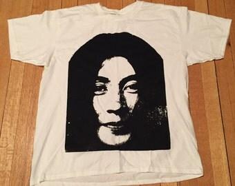 YOKO ONO Portrait handmade silkscreened T-shirt