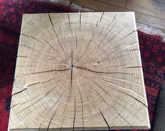 Oak cube table