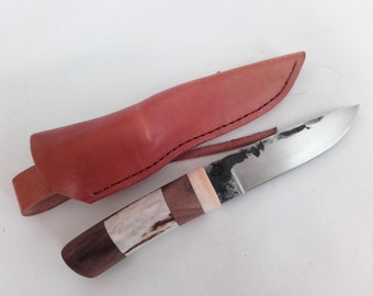Scandinavian knife, Hunting knife, Hand forged, Buschcraft knife, Wild life knife, Hand made,
