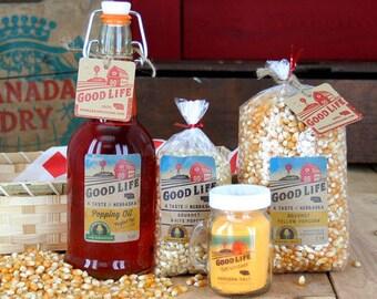 Gourmet Nebraska Popcorn Gift Basket - BNEB5034