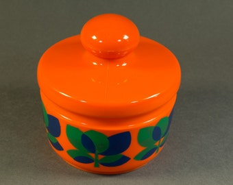 Vintage plastic orange container, serie Bologna made by Emsa W. Germany 70s